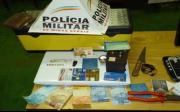 Materiais furtados em resid�ncia no Alto do C�rrego s�o recuperados pela PM
