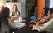 CEF realiza vistoria para reforma na quadra do Nsa Sra de F�tima e constru��o de pista de skate em Paracatu
