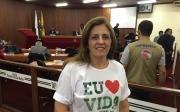 Ato em Defesa da Vida e contra a legaliza��o do aborto s�o levados � Tribuna da C�mara