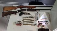 PM apreende armas e munições no Bairro Vila Mariana e São Sebastião