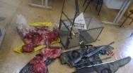 PM prende caçador, apreende materiais de caça e carne silvestre, em Buritis MG