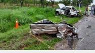Grave acidente mata uma pessoa e deixa outra ferida na BR 040
