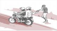 Dupla de assaltantes em motocicleta praticam 04 assaltos em sequência
