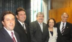 Dep Antonio Andrade recebe prefeitos e Vereadores mineiros em evento