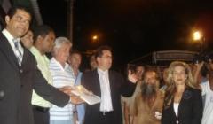 Paracatuenses fazem manifestação em favor da RPM/Kinross