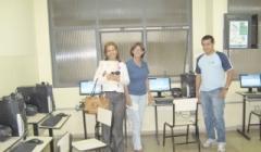 Zequinha visita novo laboratório de informática