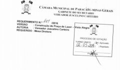 Divulgação de atos parlamentares - Mandato do Vereador Juscelino Carteiro -  Publicação em 24/05/2016 - Praça Lazer no Vista Alegre
