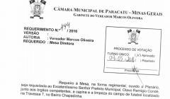 Divulgação de atos parlamentares - Mandato do Vereador Marcos Oliveira  -  Publicação em 24/05/2016