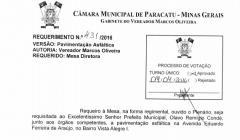 Divulgação de atos parlamentares - Mandato do Vereador Marcos Oliveira  -  Publicação em 24/05/2016 - Pavimentação