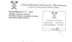 Divulgação de atos parlamentares - Mandato do Vereador Ze Maria do Paracatuzinho -  Publicação em 24/05/2016 - Calcadas Bairro Bandeirantes