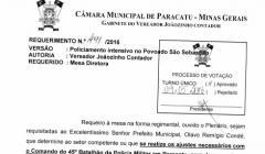 Divulgação de atos parlamentares - Mandato do Vereador João Batista dos Santos -  Publicação em 24/05/2016