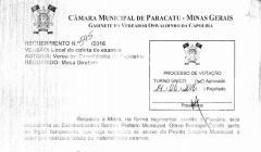 Divulgação de Atos Parlamentares - Mandato do Vereador Oswaldinho da Capoeira - Publicação em 24/06/2016