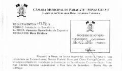 Divulgação de Atos Parlamentares - Mandato do Oswaldinho da Capoeira - Publicação em 24/06/2016 - req 535