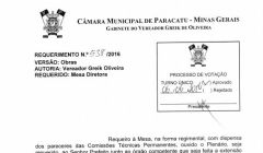 Divulgação de Atos Parlamentares - Mandato do Vereador Greick de Oliveira - Publicação em 24/06/2016