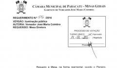 Divulgação de Atos Parlamentares - Mandato do Vereador José Maria do Paracatuzinho - Publicação em 24/06/2016 -