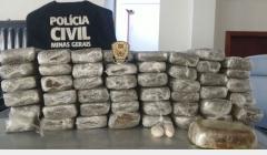 Polícia Civil apreende 40 quilos de drogas e prende traficantes em Paracatu