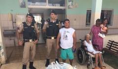 Polícia Militar visita o Lar São Vicente de Paulo