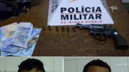 Pris�o por porte ilegal de arma de fogo no centro da cidade