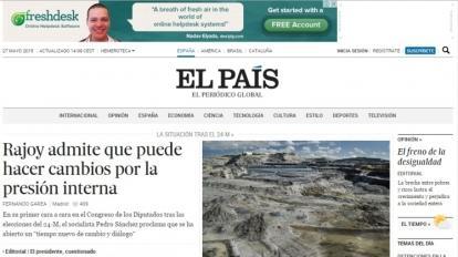 """Jornal Espanhol """"EL PAIS"""" destaca reportagem sobre poss�vel contamina��o das �guas de Paracatu por Ars�nio."""