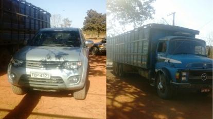 Ladr�es de gado s�o presos em flagrante e ve�culo clonado usado no crime � apreendido