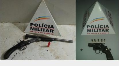 Armas de fogo s�o apreendidas em Jo�o Pinheiro e Brasil�ndia e poss�veis crimes s�o evitados