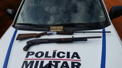 Pol�cia prende um suspeito e duas armas de fogo, al�m de recuperar camionete e motocicleta que tinham sido roubadas na regi�o do Entre Ribeiros