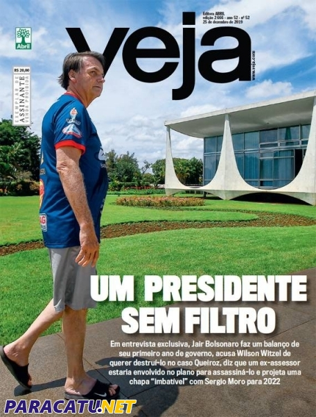 cadena Escepticismo cheque  Presidente da República é capa da Revista Veja vestindo camisa do Paracatu  FC - Notícias - PARACATU.NET