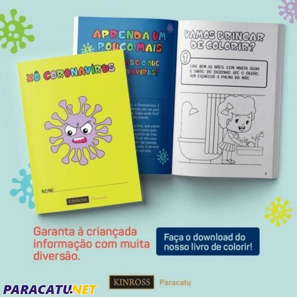 Kinross Disponibiliza Livro Para Colorir Sobre Coronavirus Noticias Paracatu Net